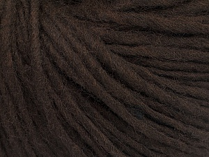 Fiber Content 50% Acrylic, 50% Wool, Brand ICE, Dark Brown, Yarn Thickness 4 Medium  Worsted, Afghan, Aran, fnt2-57002