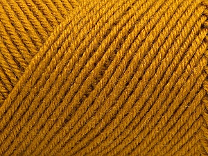 Fiber Content 50% Wool, 50% Acrylic, Brand ICE, Gold, Yarn Thickness 3 Light  DK, Light, Worsted, fnt2-57174