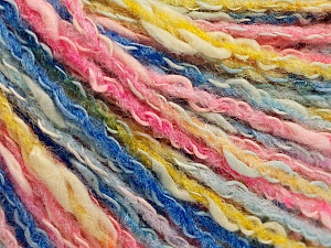 Fiber Content 50% Cotton, 50% Acrylic, Pink Shades, Brand ICE, Gold, Blue Shades, Yarn Thickness 4 Medium  Worsted, Afghan, Aran, fnt2-57287