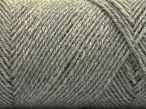 Fiber Content 50% Wool, 50% Acrylic, Brand ICE, Grey, Yarn Thickness 3 Light  DK, Light, Worsted, fnt2-57345