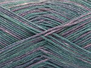 Fiber Content 100% Acrylic, Lilac Shades, Brand ICE, Green Shades, Yarn Thickness 2 Fine  Sport, Baby, fnt2-57347