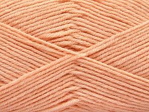 Fiber Content 80% Acrylic, 20% Polyamide, Light Orange, Brand ICE, Yarn Thickness 3 Light  DK, Light, Worsted, fnt2-57381