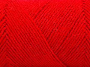 Fiber Content 50% Wool, 50% Acrylic, Red, Brand ICE, Yarn Thickness 3 Light  DK, Light, Worsted, fnt2-57736