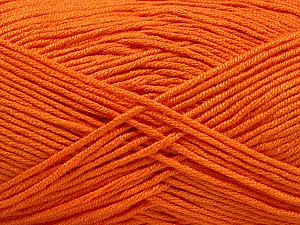 Fiber Content 50% Acrylic, 50% Bamboo, Orange, Brand ICE, Yarn Thickness 2 Fine  Sport, Baby, fnt2-57842