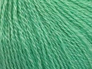 Fiber Content 65% Merino Wool, 35% Silk, Mint Green, Brand ICE, Yarn Thickness 1 SuperFine  Sock, Fingering, Baby, fnt2-57862