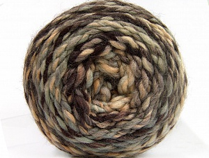 Fiber Content 70% Acrylic, 30% Wool, Brand ICE, Grey, Brown Shades, Yarn Thickness 6 SuperBulky  Bulky, Roving, fnt2-58150