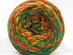 Fiber Content 70% Acrylic, 30% Wool, Yellow, Brand ICE, Green Shades, Gold, Brown Shades, Yarn Thickness 6 SuperBulky  Bulky, Roving, fnt2-58159