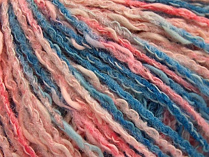 Fiber Content 50% Cotton, 50% Acrylic, Pink Shades, Brand ICE, Blue Shades, Yarn Thickness 4 Medium  Worsted, Afghan, Aran, fnt2-58168