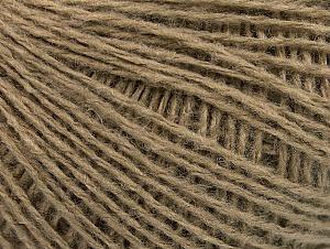Fiber Content 50% Wool, 50% Acrylic, Brand ICE, Dark Camel, Yarn Thickness 2 Fine  Sport, Baby, fnt2-58295