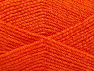 Fiber Content 60% Acrylic, 40% Wool, Light Orange, Brand ICE, Yarn Thickness 3 Light  DK, Light, Worsted, fnt2-58336