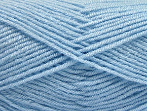 Fiber Content 60% Acrylic, 40% Wool, Light Blue, Brand ICE, Yarn Thickness 3 Light  DK, Light, Worsted, fnt2-58342
