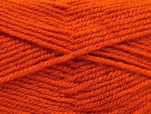 Fiber Content 50% Wool, 50% Acrylic, Orange, Brand ICE, Yarn Thickness 4 Medium  Worsted, Afghan, Aran, fnt2-58377