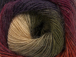 Fiber Content 60% Premium Acrylic, 20% Alpaca, 20% Wool, Purple, Orange, Brand ICE, Green, Cream, Camel, Burgundy, Yarn Thickness 2 Fine  Sport, Baby, fnt2-58402