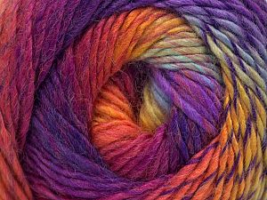 Fiber Content 70% Acrylic, 30% Wool, Yellow, Turquoise, Purple, Brand ICE, Fuchsia, Yarn Thickness 3 Light  DK, Light, Worsted, fnt2-58585