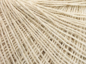 Fiber Content 50% Wool, 50% Acrylic, Brand ICE, Beige, Yarn Thickness 2 Fine  Sport, Baby, fnt2-58829