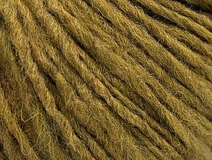Fiber Content 50% Merino Wool, 25% Alpaca, 25% Acrylic, Khaki, Brand ICE, Yarn Thickness 4 Medium  Worsted, Afghan, Aran, fnt2-58949