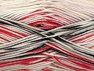 Fiber Content 100% Mercerised Cotton, White, Red, Brand ICE, Black, Yarn Thickness 2 Fine  Sport, Baby, fnt2-58982