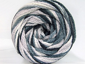 Fiber Content 50% Acrylic, 50% Polyamide, White, Brand ICE, Grey, Black, Yarn Thickness 5 Bulky  Chunky, Craft, Rug, fnt2-59344