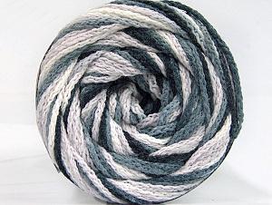 Fiber Content 50% Acrylic, 50% Polyamide, White, Brand ICE, Grey, Black, Yarn Thickness 5 Bulky  Chunky, Craft, Rug, fnt2-59344