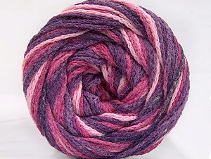 Fiber Content 50% Acrylic, 50% Polyamide, Purple, Pink Shades, Brand ICE, Yarn Thickness 5 Bulky  Chunky, Craft, Rug, fnt2-59346