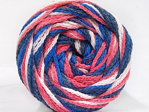 Fiber Content 50% Acrylic, 50% Polyamide, White, Salmon, Navy, Brand ICE, Blue, Yarn Thickness 5 Bulky  Chunky, Craft, Rug, fnt2-59347