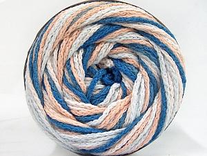 Fiber Content 50% Acrylic, 50% Polyamide, Light Salmon, Brand ICE, Blue, Beige, Yarn Thickness 5 Bulky  Chunky, Craft, Rug, fnt2-59356
