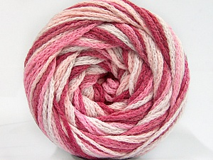 Fiber Content 50% Acrylic, 50% Polyamide, White, Pink Shades, Brand ICE, Yarn Thickness 5 Bulky  Chunky, Craft, Rug, fnt2-59358