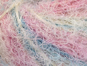 Fiber Content 40% Viscose, 30% Wool, 30% Polyamide, White, Pink, Lilac, Brand ICE, Blue, Yarn Thickness 5 Bulky  Chunky, Craft, Rug, fnt2-59582