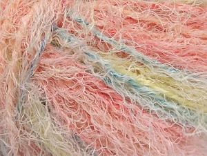 Fiber Content 40% Viscose, 30% Wool, 30% Polyamide, Pink Shades, Light Yellow, Brand ICE, Baby Blue, Yarn Thickness 5 Bulky  Chunky, Craft, Rug, fnt2-59583