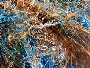 Fiber Content 100% Polyester, Brand ICE, Green, Gold, Brown, Blue, Yarn Thickness 6 SuperBulky  Bulky, Roving, fnt2-59697
