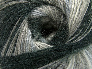 Fiber Content 60% Acrylic, 20% Angora, 20% Wool, Brand ICE, Grey Shades, Black, Yarn Thickness 2 Fine  Sport, Baby, fnt2-59746