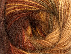 Fiber Content 60% Acrylic, 20% Angora, 20% Wool, Brand ICE, Brown Shades, Yarn Thickness 2 Fine  Sport, Baby, fnt2-59747