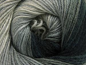 Fiber Content 70% Acrylic, 30% Merino Wool, Brand ICE, Grey Shades, Black, Yarn Thickness 2 Fine  Sport, Baby, fnt2-59768