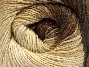 Fiber Content 70% Acrylic, 30% Merino Wool, Brand ICE, Cream, Brown Shades, Yarn Thickness 2 Fine  Sport, Baby, fnt2-59769