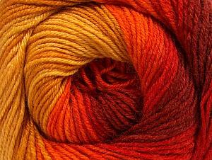 Fiber Content 70% Acrylic, 30% Merino Wool, Yellow, Red, Orange, Brand ICE, Gold, Yarn Thickness 2 Fine  Sport, Baby, fnt2-59773