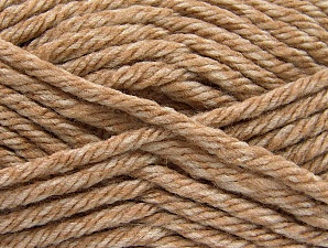 Fiber Content 100% Acrylic, Brand ICE, Cream, Beige, Yarn Thickness 6 SuperBulky  Bulky, Roving, fnt2-59791