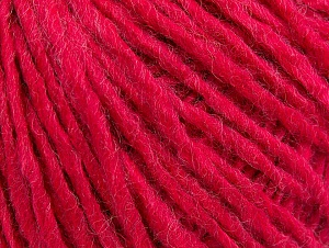 Fiber Content 50% Acrylic, 50% Wool, Brand ICE, Fuchsia, Yarn Thickness 4 Medium  Worsted, Afghan, Aran, fnt2-59827
