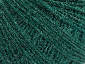 Fiber Content 50% Wool, 50% Acrylic, Brand ICE, Dark Green, Yarn Thickness 2 Fine  Sport, Baby, fnt2-60042