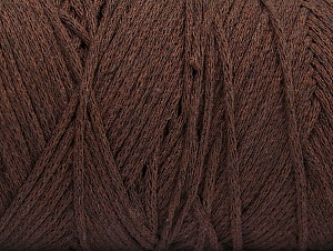 Fiber Content 100% Cotton, Brand ICE, Dark Brown, Yarn Thickness 4 Medium  Worsted, Afghan, Aran, fnt2-60147