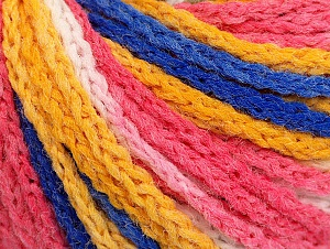 Fiber Content 50% Polyamide, 50% Acrylic, White, Pink, Brand ICE, Gold, Blue, Yarn Thickness 4 Medium  Worsted, Afghan, Aran, fnt2-60364