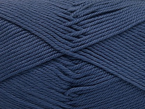 Baby cotton is a 100% premium giza cotton yarn exclusively made as a baby yarn. It is anti-bacterial and machine washable! Fiber Content 100% Giza Cotton, Navy, Brand ICE, Yarn Thickness 3 Light  DK, Light, Worsted, fnt2-60371