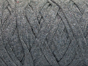 Fiber Content 100% Recycled Cotton, Brand ICE, Grey, Yarn Thickness 6 SuperBulky  Bulky, Roving, fnt2-60398