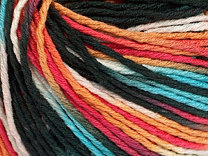 Fiber Content 100% Acrylic, White, Turquoise, Salmon, Orange, Brand ICE, Black, Yarn Thickness 2 Fine  Sport, Baby, fnt2-60464