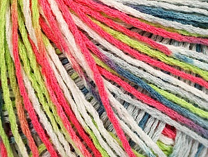 Fiber Content 100% Acrylic, White, Neon Pink, Neon Green, Jeans Blue, Brand ICE, Grey, Yarn Thickness 2 Fine  Sport, Baby, fnt2-60468