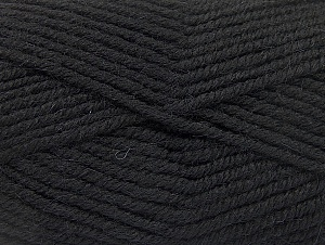 Fiber Content 50% Acrylic, 25% Wool, 25% Alpaca, Brand ICE, Black, Yarn Thickness 5 Bulky  Chunky, Craft, Rug, fnt2-60855