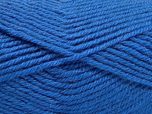 Fiber Content 50% Acrylic, 25% Wool, 25% Alpaca, Brand ICE, Blue, Yarn Thickness 5 Bulky  Chunky, Craft, Rug, fnt2-60865