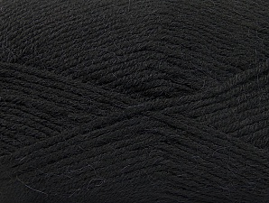 Fiber Content 50% Acrylic, 25% Wool, 25% Alpaca, Brand ICE, Black, Yarn Thickness 3 Light  DK, Light, Worsted, fnt2-60889