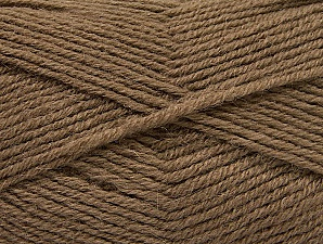 Fiber Content 50% Acrylic, 25% Wool, 25% Alpaca, Brand ICE, Dark Camel, Yarn Thickness 3 Light  DK, Light, Worsted, fnt2-60892