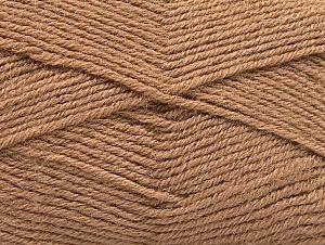 Fiber Content 50% Acrylic, 25% Wool, 25% Alpaca, Brand ICE, Camel, Yarn Thickness 3 Light  DK, Light, Worsted, fnt2-60893