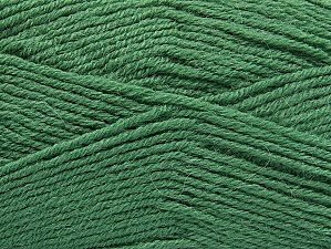 Fiber Content 50% Acrylic, 25% Wool, 25% Alpaca, Brand ICE, Green, Yarn Thickness 3 Light  DK, Light, Worsted, fnt2-60900